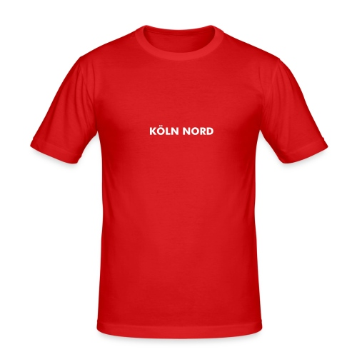 Köln Nord Slim Fit - Flock - Männer Slim Fit T-Shirt