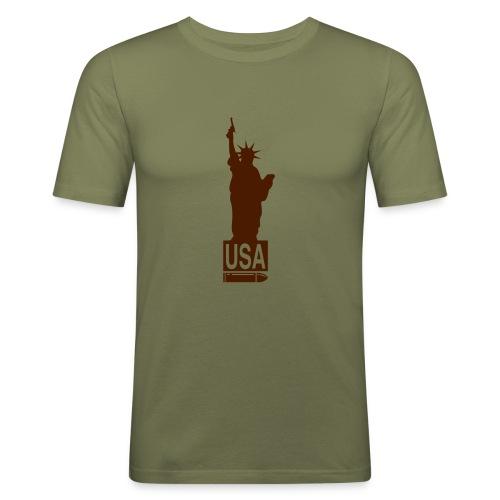 USA Gun - Men's Slim Fit T-Shirt