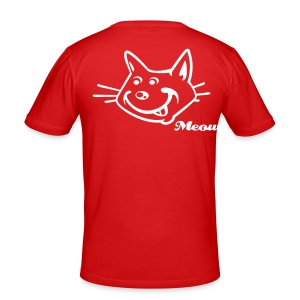 'Meow' in Red - Men's Slim Fit T-Shirt