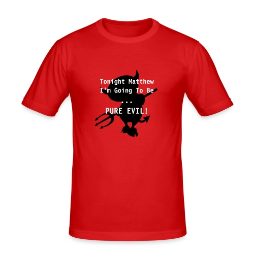 Pure Evil Fitted T - Men's Slim Fit T-Shirt