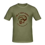 T-Shirts ~ Men's Slim Fit T-Shirt ~ Be a Tidy Kiwi