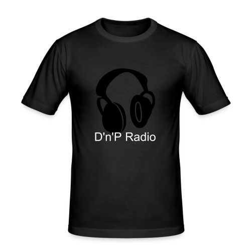 D'n'P Radio Shirt - Black - Men's Slim Fit T-Shirt