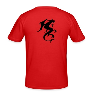 t shirt rouge red skull - Tee shirt près du corps Homme