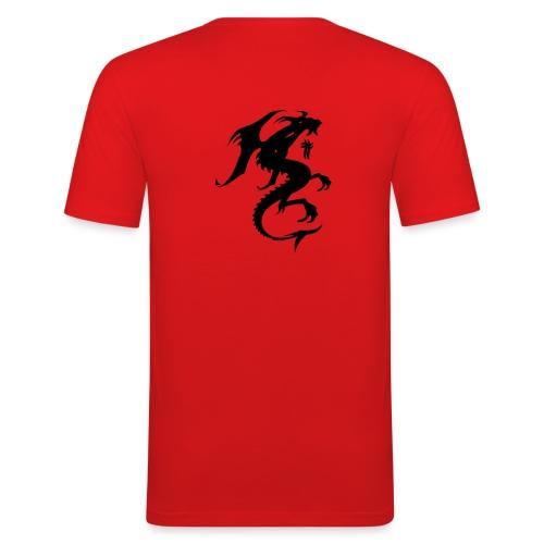 t shirt rouge red skull - T-shirt près du corps Homme