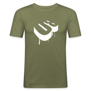 slim fit T-shirt - Men - 80 - tekst op achterkant