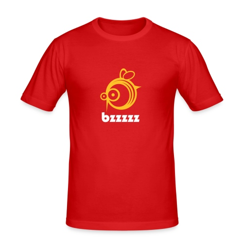 Bzzzzz (red) - slim fit T-shirt