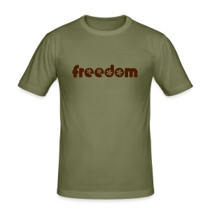 'Freedeom' Camel Slim Fit T-Shirt - Men's Slim Fit T-Shirt