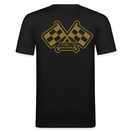 Lækker t-shirt med guld tekst - Herre Slim Fit T-Shirt