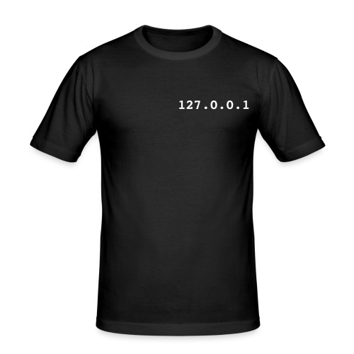 127.0.0.1, T-Shirt, zwart. - slim fit T-shirt