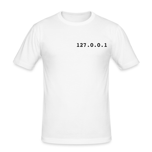 127.0.0.1, T-Shirt, wit. - slim fit T-shirt