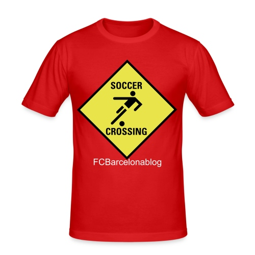 Soccer Crossing - Men's Slim Fit T-Shirt