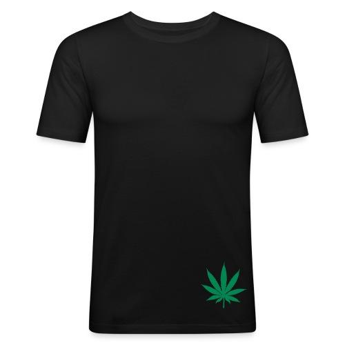 THC Noir - T-shirt près du corps Homme