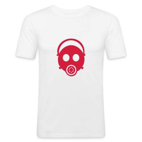 ガスマスクT(白) - Men's Slim Fit T-Shirt