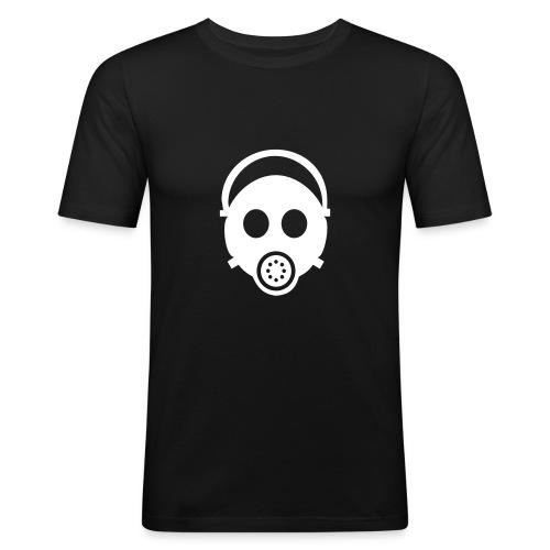 ガスマスクT(黒) - Men's Slim Fit T-Shirt
