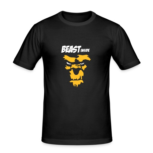 Beast Inside - Männer Slim Fit T-Shirt