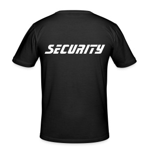 SECURITY  T-SHIRT  (Black/white) - slim fit T-shirt