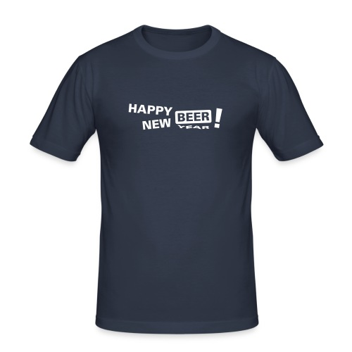 Happy New Beer - Männer Slim Fit T-Shirt