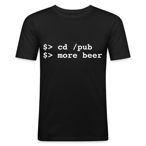 Codice Pub - Maglietta aderente da uomo