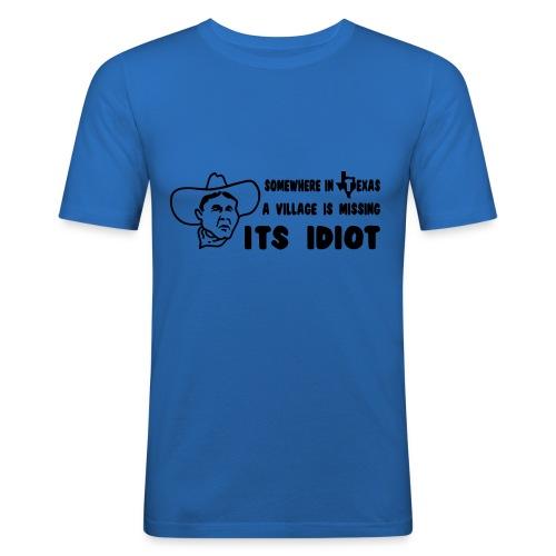 idiot - Men's Slim Fit T-Shirt