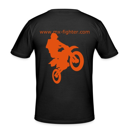 mx-fighter + cross v/h - Männer Slim Fit T-Shirt