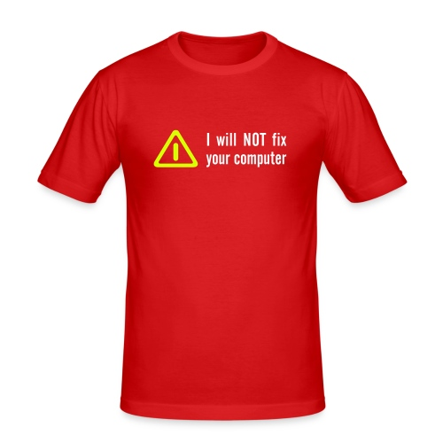 I will not, T-Shirt, oranje. - slim fit T-shirt