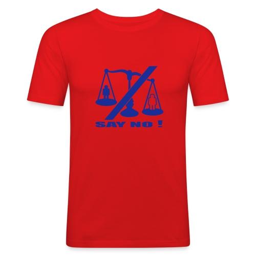say no! t-paita - Miesten tyköistuva t-paita