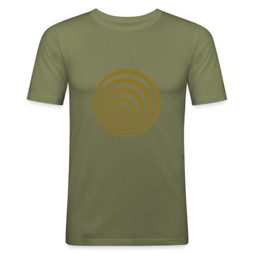 Spiral (gold) - Miesten tyköistuva t-paita