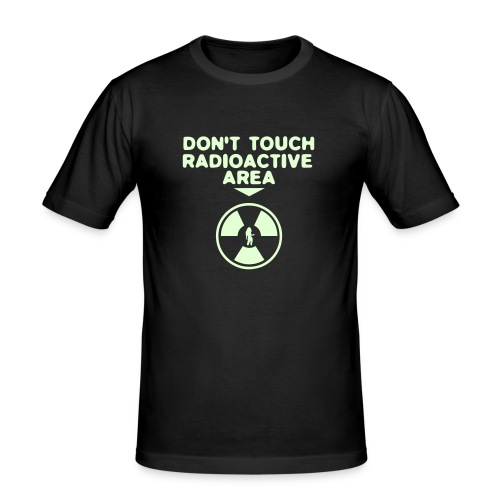 Radioactive (fosfor) hohtaa pimeässä! - Miesten tyköistuva t-paita