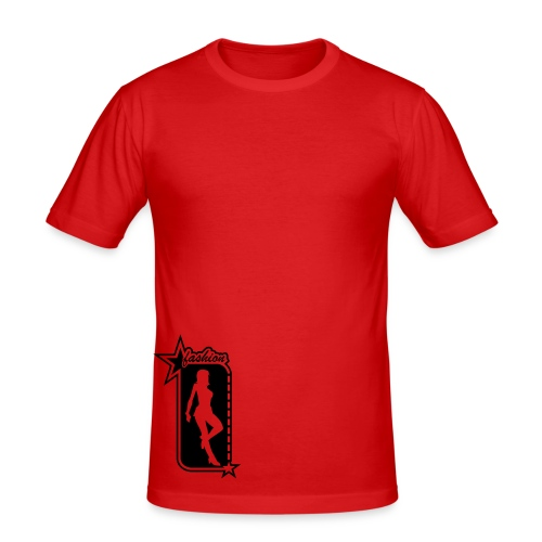 Lady In Red - Men's Slim Fit T-Shirt