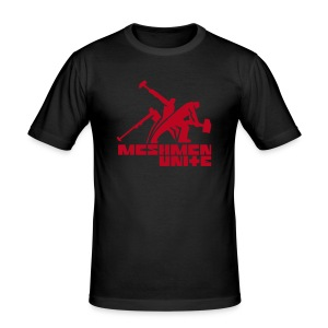 MESHMEN UNITE BLACKRED - Men's Slim Fit T-Shirt