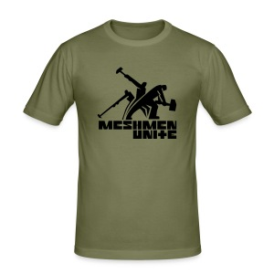MESHMEN UNITE  OLIVEBLACK - Men's Slim Fit T-Shirt