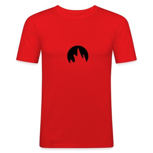 T-Shirt rot mit Druck - Männer Slim Fit T-Shirt