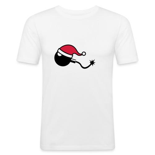 X-mas bomb man - T-shirt près du corps Homme