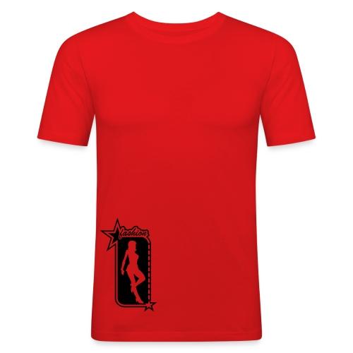 T-shirt rouge - T-shirt près du corps Homme