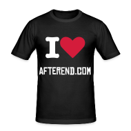 Tee shirts ~ Tee shirt près du corps Homme ~ I love AfterEnd - Black