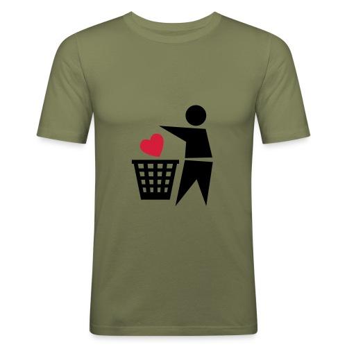 prullenbak hart - slim fit T-shirt