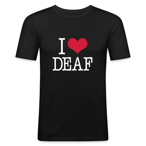 I (Herz) DEAF - Männer Slim Fit T-Shirt