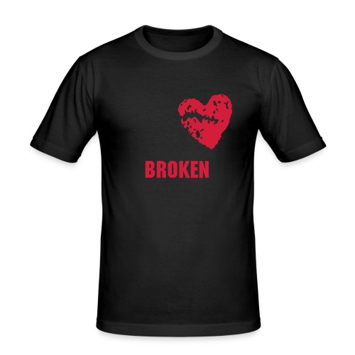 Broken T-shirt (svart) - Slim Fit T-skjorte for menn