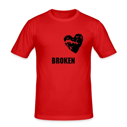 Broken T-shirt (rød) - Slim Fit T-skjorte for menn
