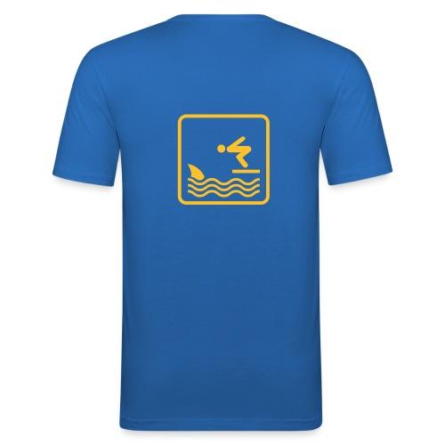 Sun Shark - Maglietta aderente da uomo