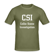 T-Shirts ~ Men's Slim Fit T-Shirt ~ CSI - Collie Scene Investigation Tee Shirt