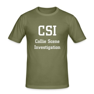 CSI - Collie Scene Investigation Tee Shirt - Men's Slim Fit T-Shirt