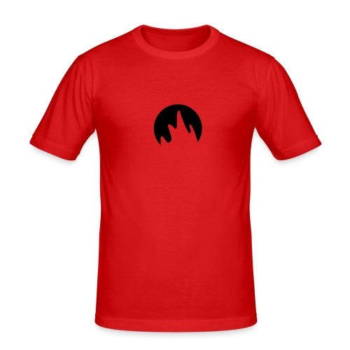 Rounded Fire - Men's Slim Fit T-Shirt