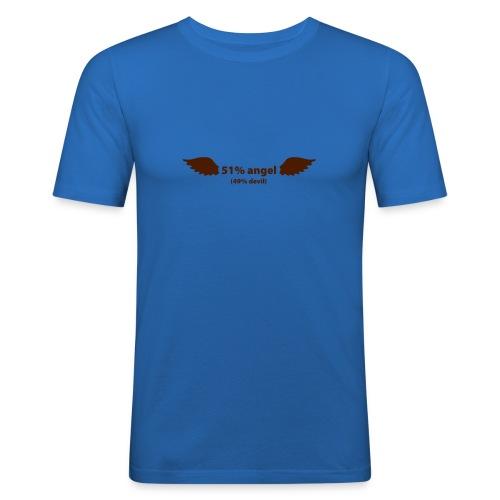 51% angel / 49% Devil - vous pouvez choisir la couleur du tee shirt - T-shirt près du corps Homme
