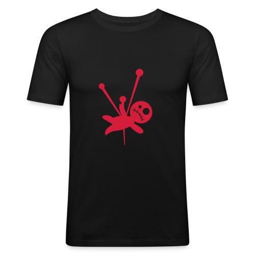 Comic Voodoo Black/Red - Männer Slim Fit T-Shirt