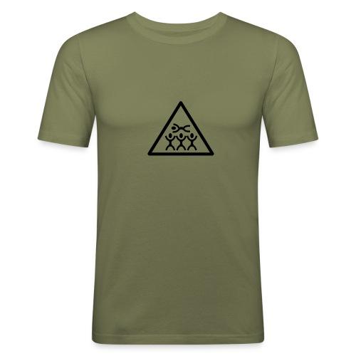 Slim Fit Crowdsurfing - Männer Slim Fit T-Shirt
