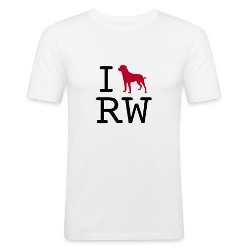 Männer Slim Fit T-Shirt - iloverottweil,Rottweiler,Rottweil