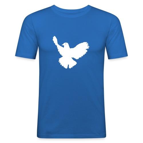 Friedenstaube Solo - Männer Slim Fit T-Shirt