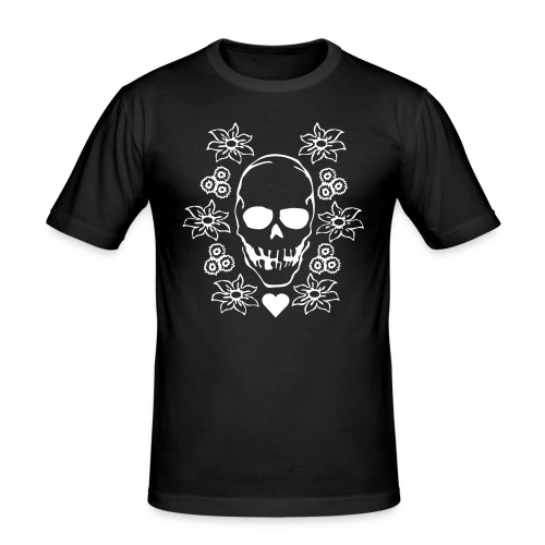 Skull slim shirt - Slim Fit T-skjorte for menn