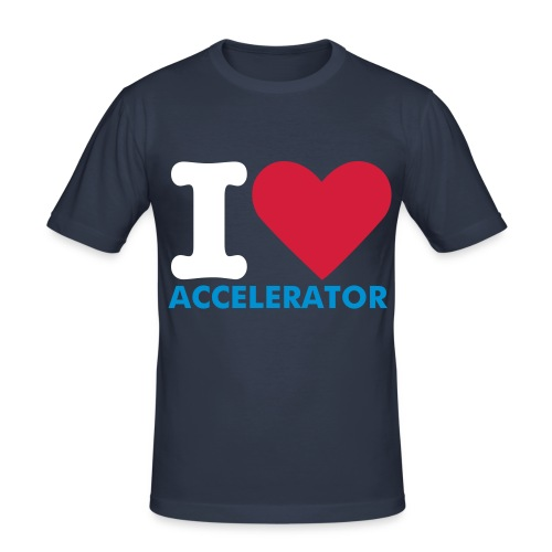 Accelerator love - Men's Slim Fit T-Shirt
